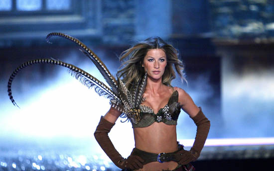 Victoria's Secret model Bundchen walks the runway at the Victoria's Secret fashion show in Hollywood